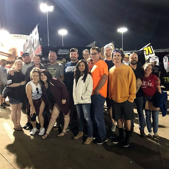 June 27, 2018   The team had an awesome time Saturday night at Knoxville Raceway cheering on one of our own. Thank you to our field manager and favorite racecar driver, Brad Comegys for letting us each take a turn behind the wheel! 🏁