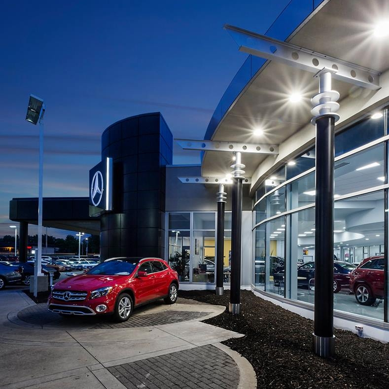 September 5, 2018   Lookin' good, Mercedes-Benz of Des Moines!  This spring we wrapped up the interior and exterior renovation of the Mercedes-Benz dealership. This project included all new restrooms, new sales offices, and an expanded and remodeled showroom. Gorgeous glass storefront was added to the entrance, along with new EIFS and fresh paint. Stop by and check it out in person.