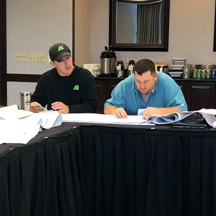 October 29, 2018   Thanks to Master Builders of Iowa for training our team members on take-offs and estimating last Friday at the Advanced Blueprint Reading for Commercial Construction class.