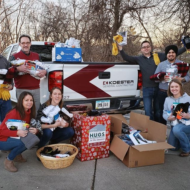 January 8, 2019   Thanks to our amazing employees and industry partners, over 100 pairs of socks, underwear, hats and gloves were donated to the Hope Iowa emergency shelter today. We are so grateful to work with such kind and generous community!