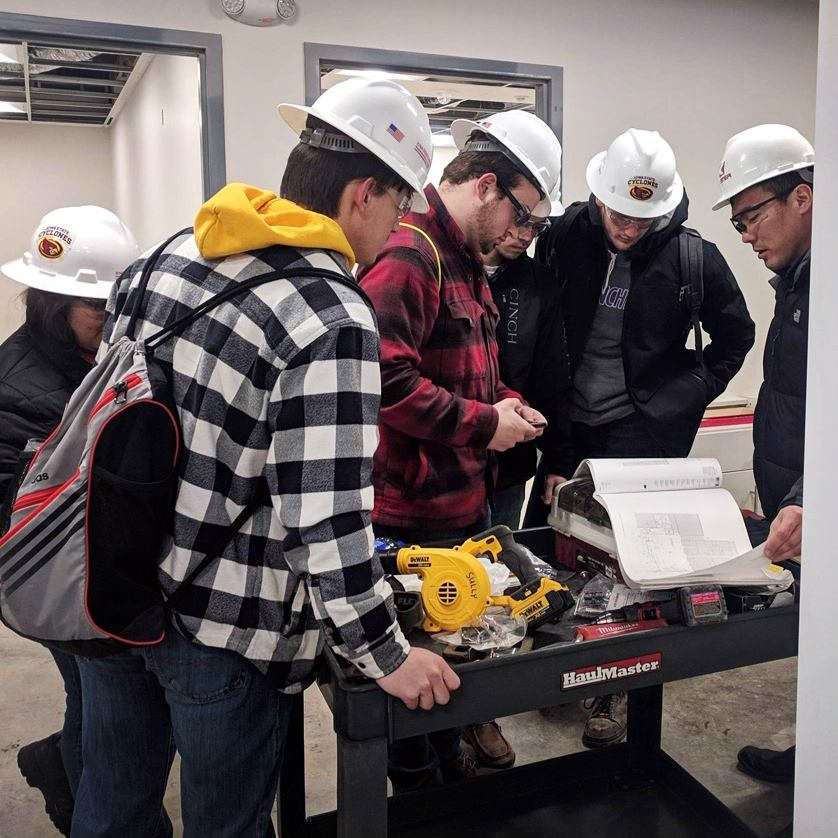 March 6, 2019   Thank you to the ISU Construction Engineering program for the opportunity to get involved in shaping the future of the construction industry.  Two of our project managers (and Iowa State Alums) had the chance to spend the afternoon with five ISU ConE students this week touring our job site in Truro, Iowa.