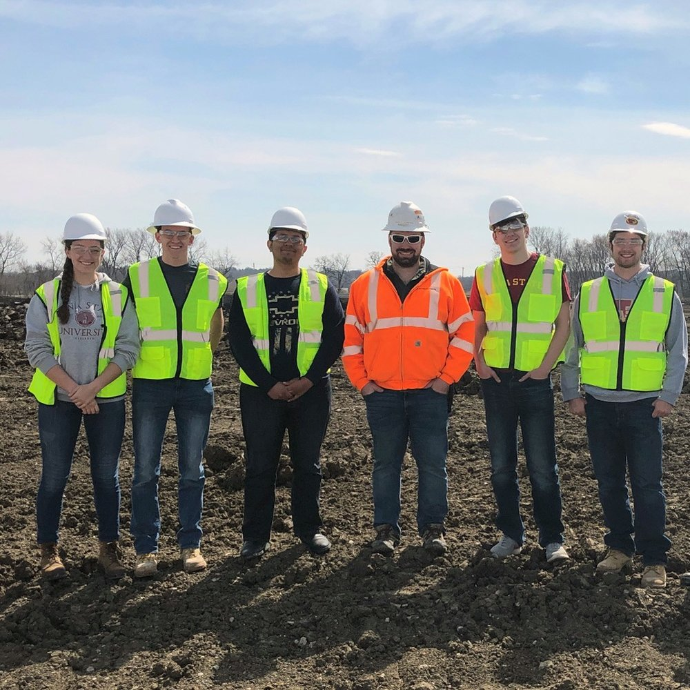 April 3, 2019   Koester superintendent and Iowa State alum, Scott Hoskins, spent the afternoon with six ISU students touring the job site for the West Des Moines Public Services Facility. The students observed during the onsite team meeting, reviewed the plans and schedule, and walked the site while discussing the daily tasks it takes to keep a large project like the West Public Services Facility moving forward.