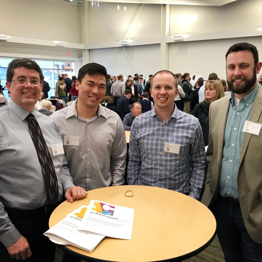 March 5, 2019   Congrats to students and mentors on another successful year of the ACE Mentor Program! Each volunteer industry mentor assisted a team of high school students after school hours over the past 5 months with the hope of inspiring them to pursue careers in architecture, engineering, and construction. Shout out to Koester's own Colton Taylor and Scott Hoskins, who volunteered their time and talents this year!