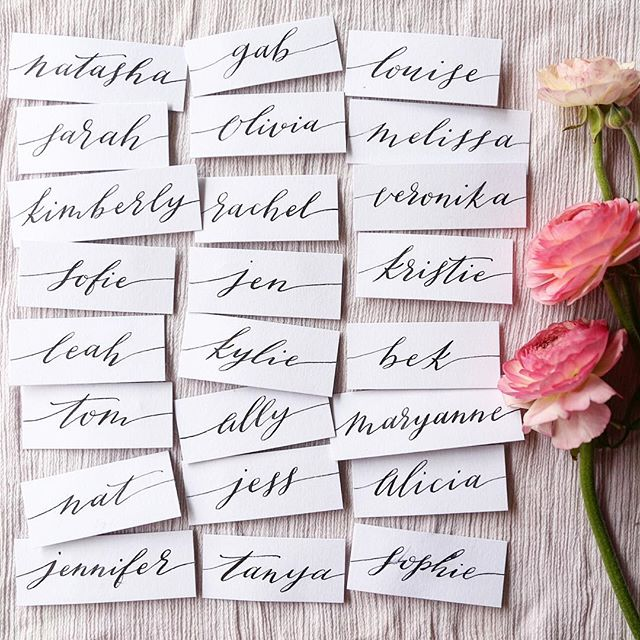 I really believe small special details make a big difference.  When I decided I need name tags, but elegant beautiful name tags, there was only one girl for the job! @mycreativespaceau thank you beauty!! Love them! . . #maisonmeadow #eventdesign #styling#sydney#nametags#details#handlettering #mmspringlunch