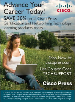 Enjoy 30% naspa discount with cisco press using coupon code: techsupport