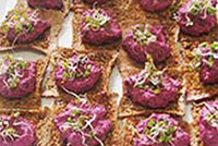 Flaxseed Cracker Canapes