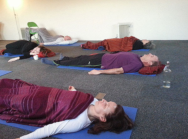 Relaxation sessions on our UK detox retreat