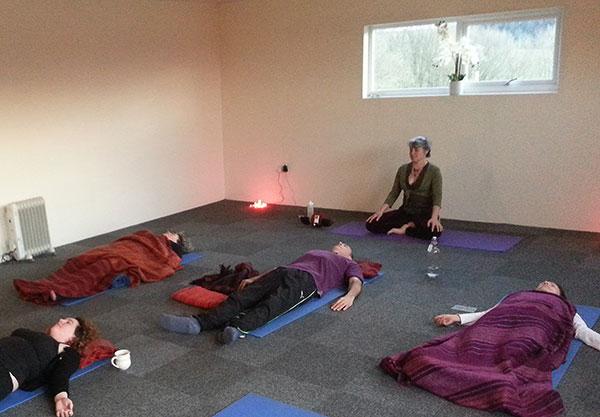 Yoga sessions on our UK detox retreats