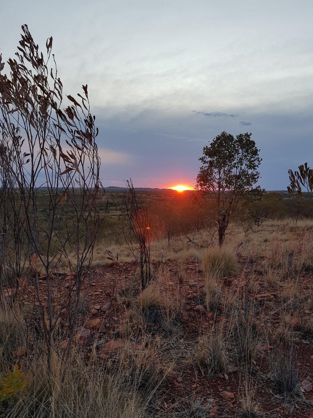 A sunset in Tennant Creek