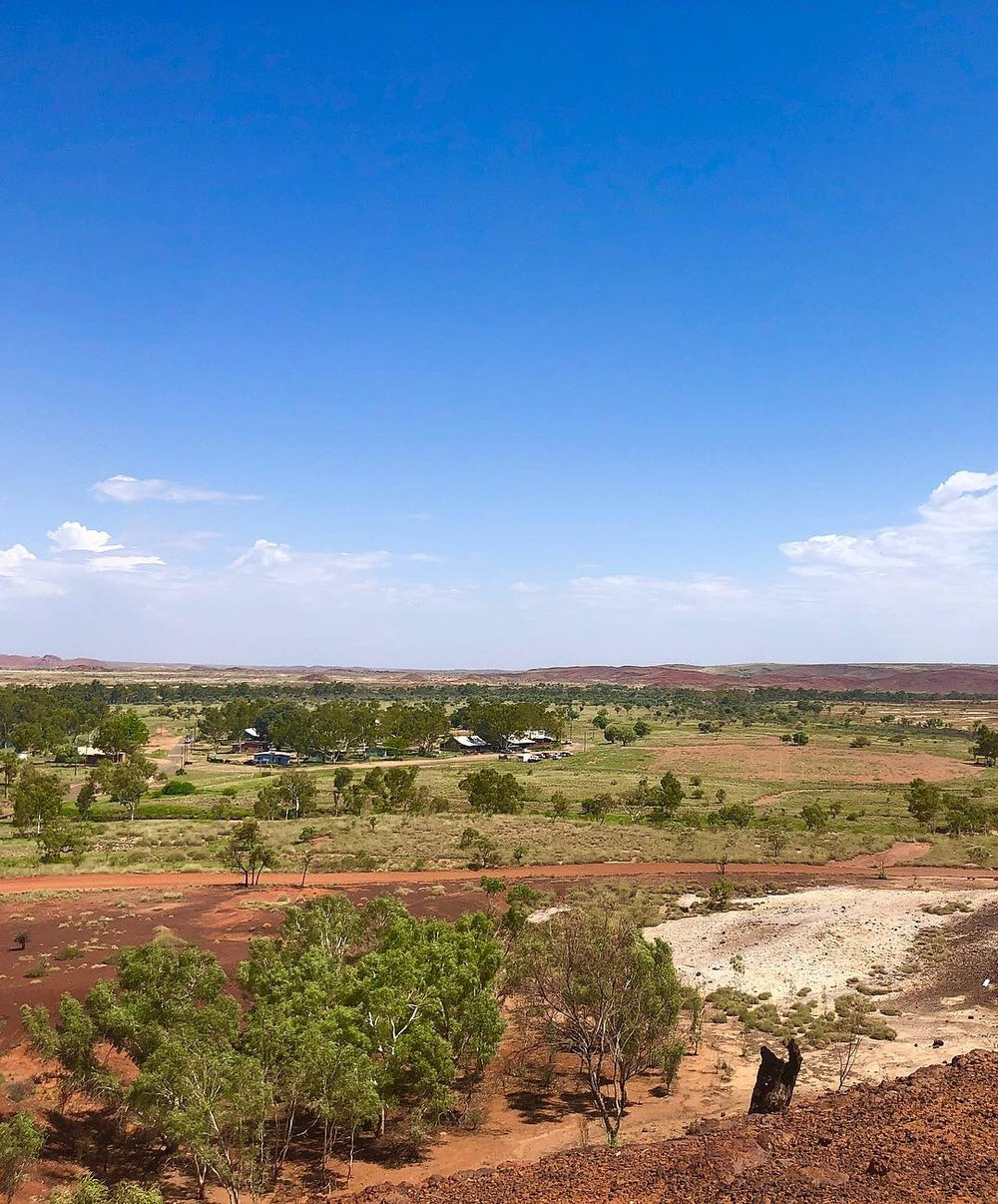 Nullagine, located 296 km south-east of Port Hedland.