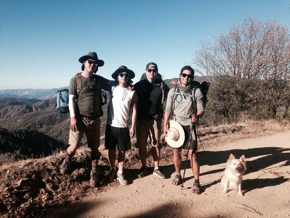 Me with my backpacking Tribe in the Sierra Pelona