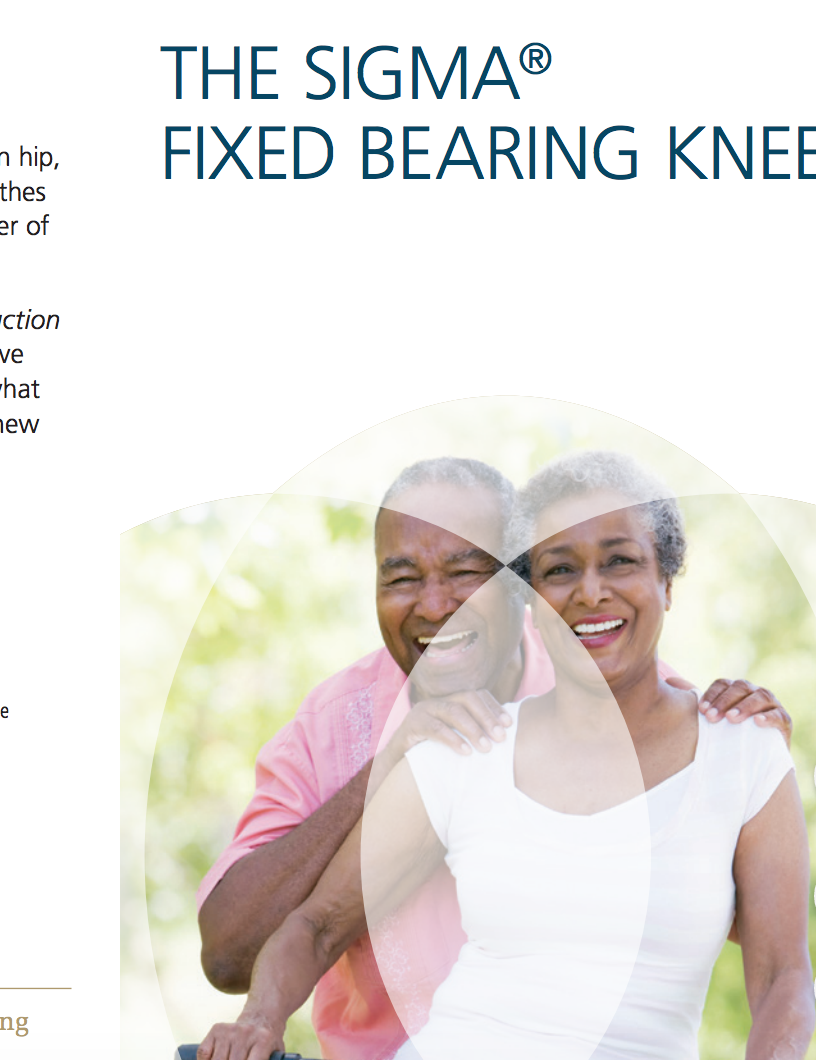 The SIGMA®Fixed-Bearing Knee Cat. No. 0612-66-505
