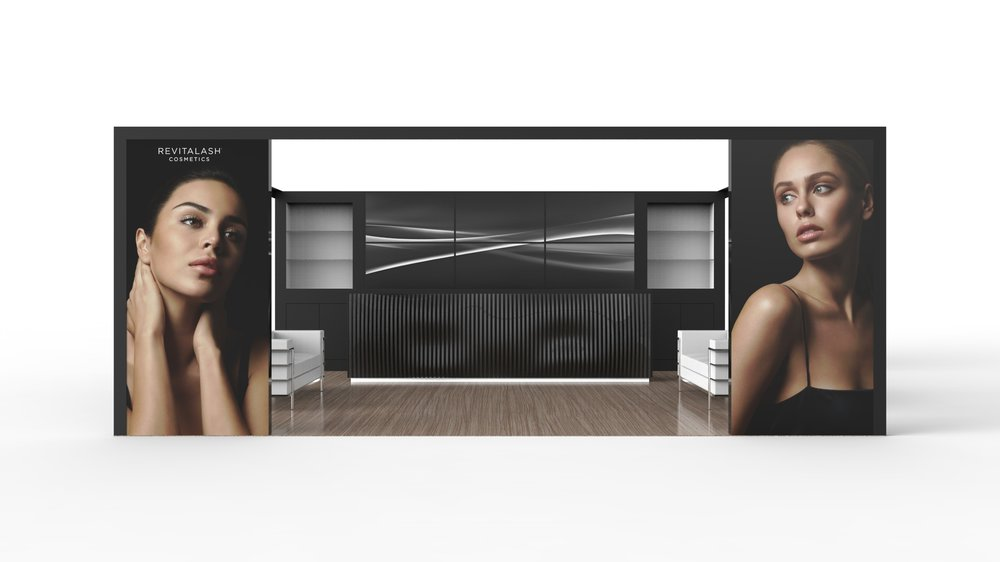 Exhibition Stand Dimensions : Revitalash modular exhibition booth