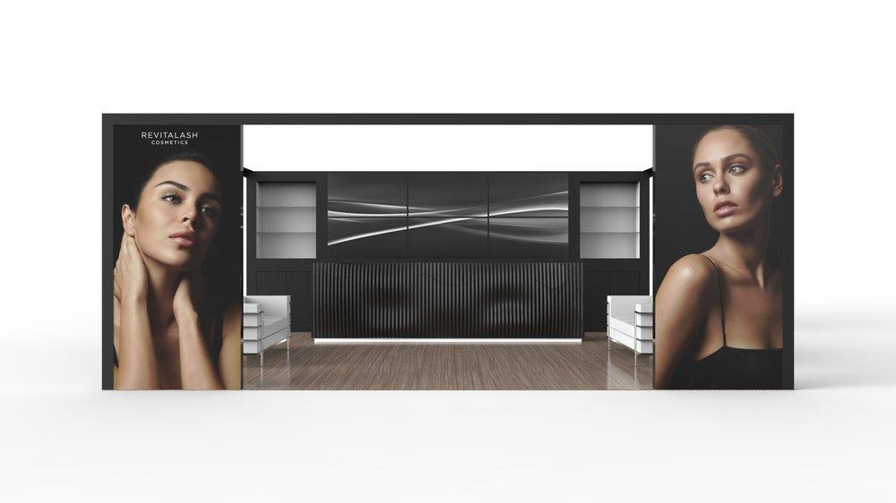 Cosmetic Exhibition Stand Design : Revitalash modular exhibition booth