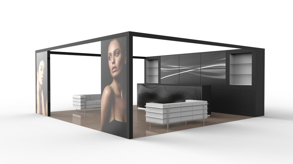 Exhibition Booth Dimensions : Ideas by booth size metro exhibits
