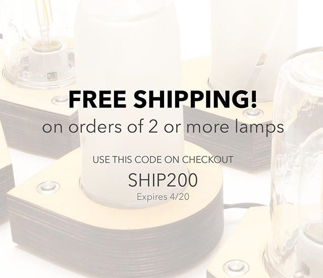 Boom, free shipping when you order 2 or more lamps. Still 15% off all lamps for a limited time!  See heavybig.com. Link also in bio.  #heavybig #desklamp #lamp #led #woodworking #moderndesign #modernlighting #handmade