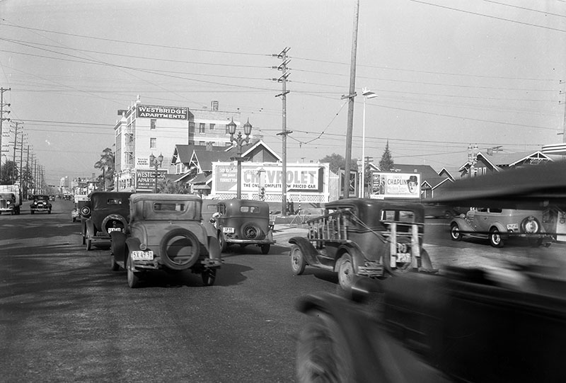 1936:  Western looking north to Venice Blvd. [approaching HARVARD HEIGHTS to the right]