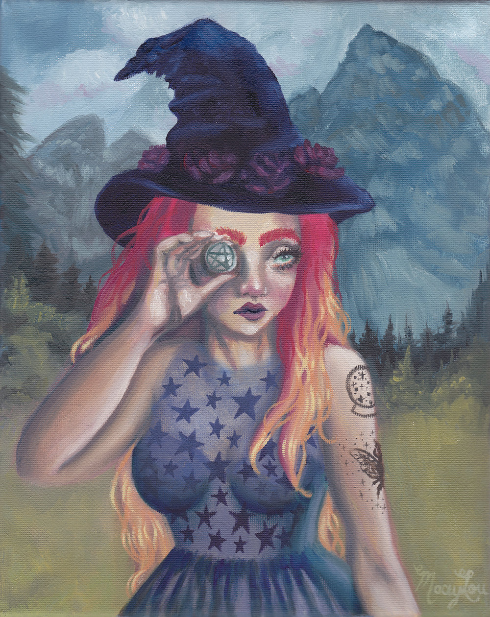 """Witchy Money"" Oil Painting"