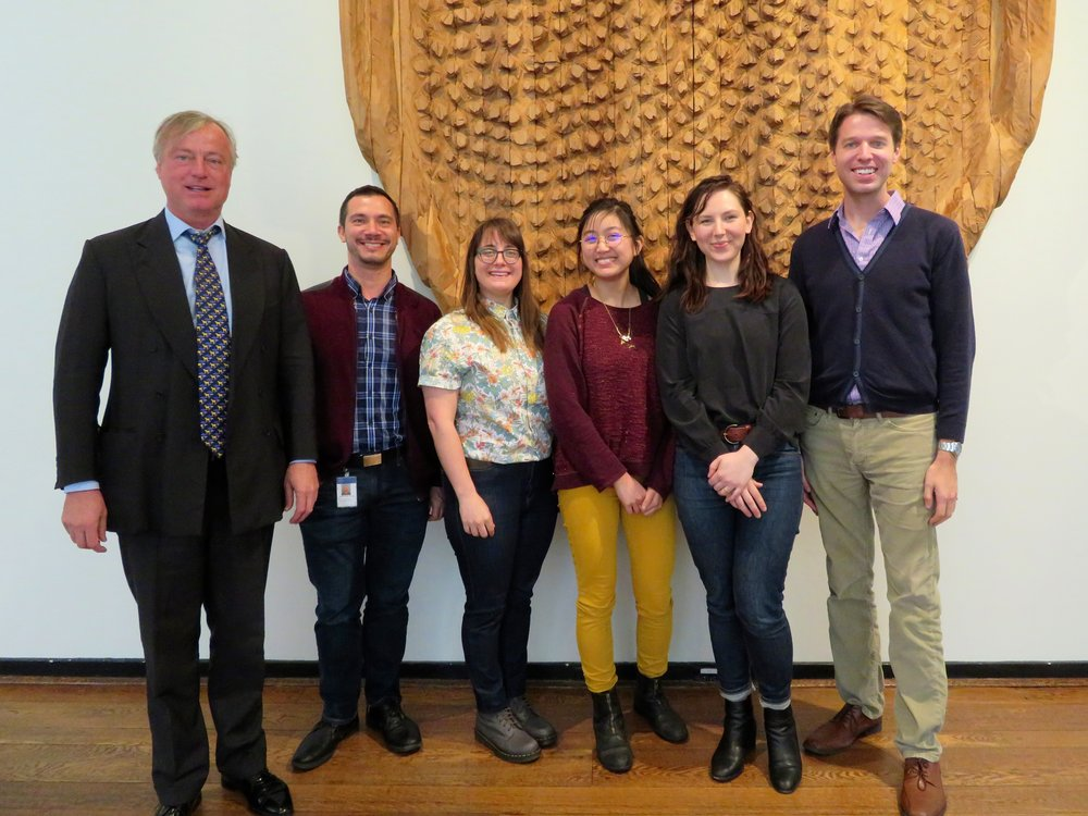 (L to R) Paul Beirne (AllianceBernstein) and PRISM board members Mariano Cardenas, Aylesse Sordillo, Molly Liu, Gabriella Spitz-Becker, and Aaron Mertz in the Abby Aldrich Rockefeller Lounge.