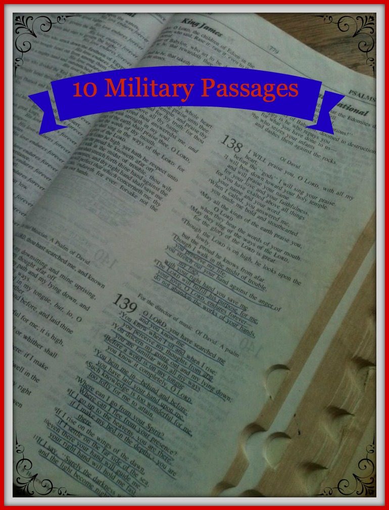 10 bible Passages for Military