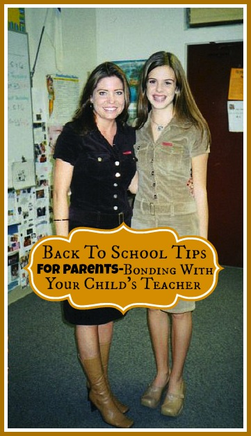 Back To School Tips For Parents-Bonding With Your Child's Teacher