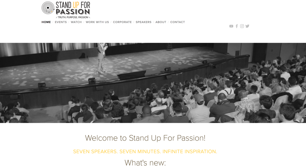 stand up for passion -