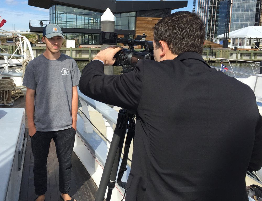 Student Evan Clark of Germantown, TN describes ship's Cuba mission