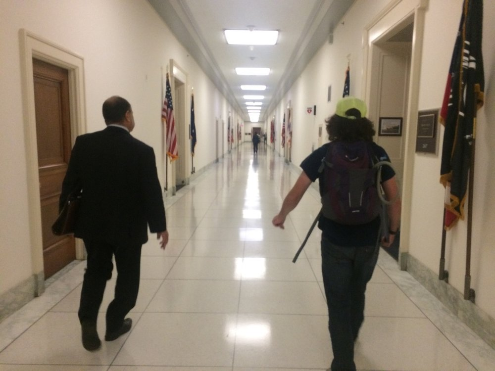 Our students & crew walk the hallways of Congress to brief legislators on the Ocean Passages mission