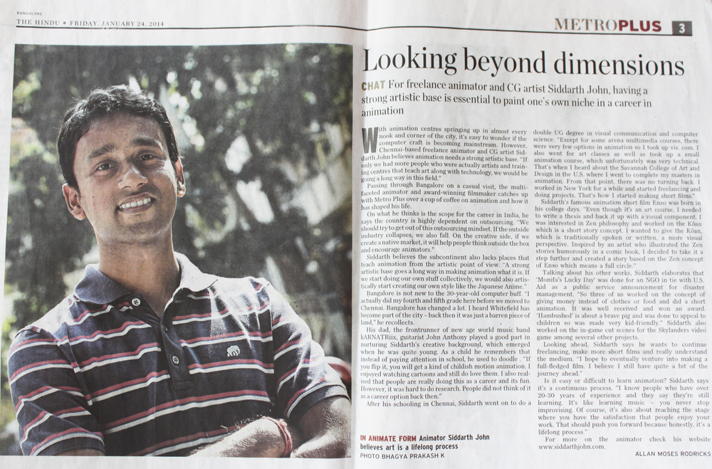 The Hindu - Metro Plus - Jan 2014