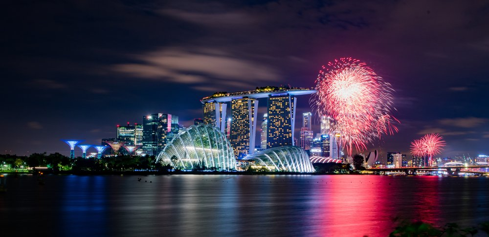 Find vivid photos like this one of fireworks in Singapore. My favorite source of pictures is Unsplash. [Photo credit: Nitin Mathew]