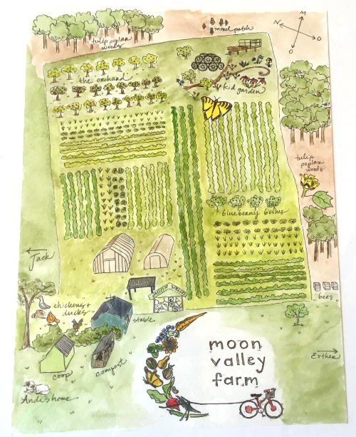 Hundred-Acre Map of Moon Valley Farm. Baltimore, Maryland.