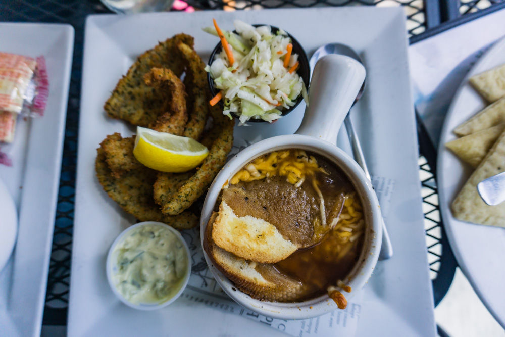 Things to Do in Ontario | Old Marina Restaurant | Crispy Perch and French Onion Soup | Puslinch, Ontario
