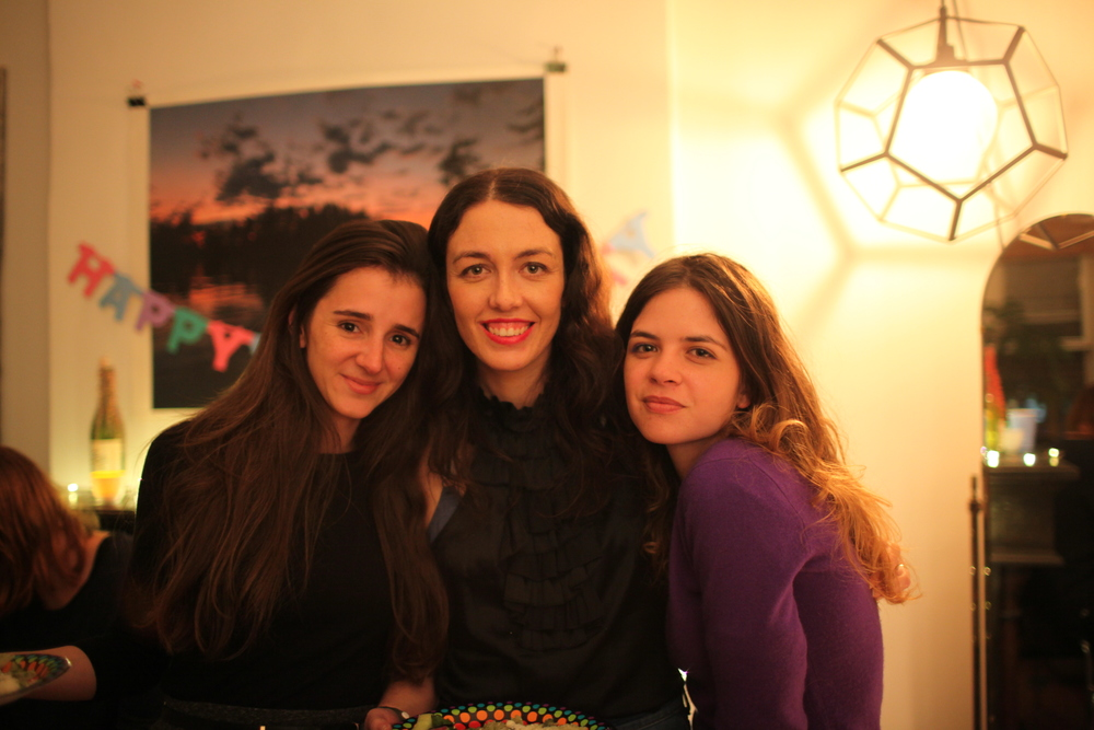 Patricia, me and Andrea on my 29th birthday. Photo and apartment and sign by  Alex Budman