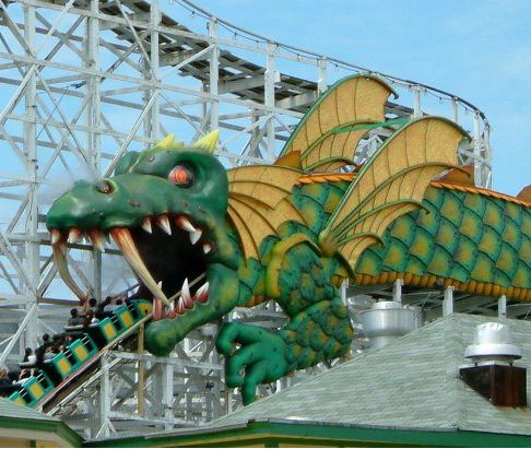 The Dragon Coaster. My mother's clever play on words refers to the shitty rollercoaster near the town she grew up in at an amusement park called Playland.