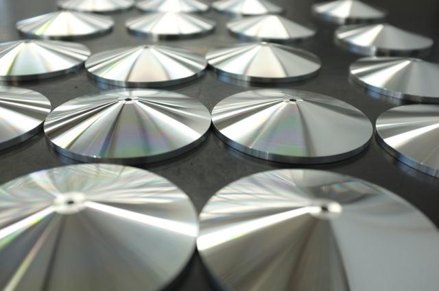 Polished aluminium base