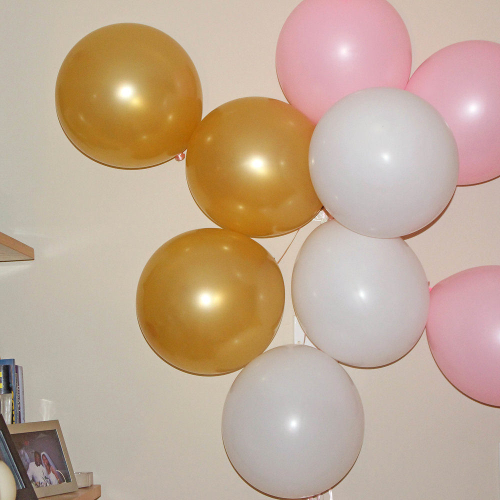 balloon clusters - girl's 1st bday party | Pish Posh Perfect
