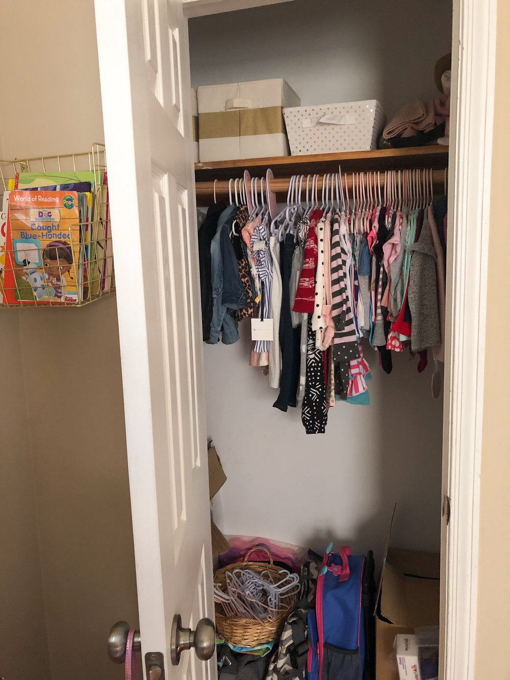 Toddler Closet - Before 1