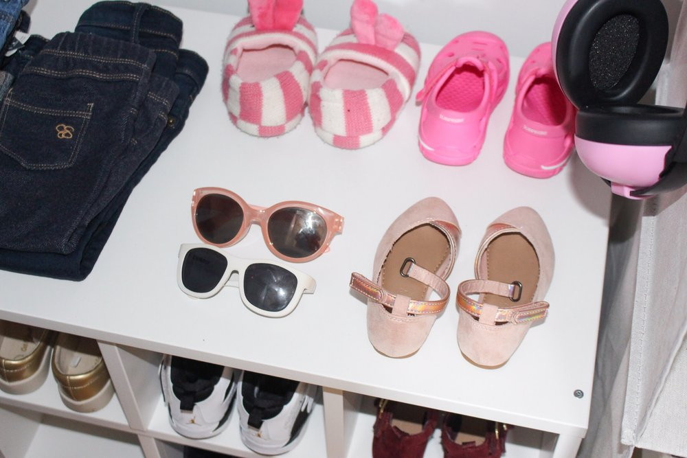 Toddler Closet Organization - Shoes | Pish Posh Perfect