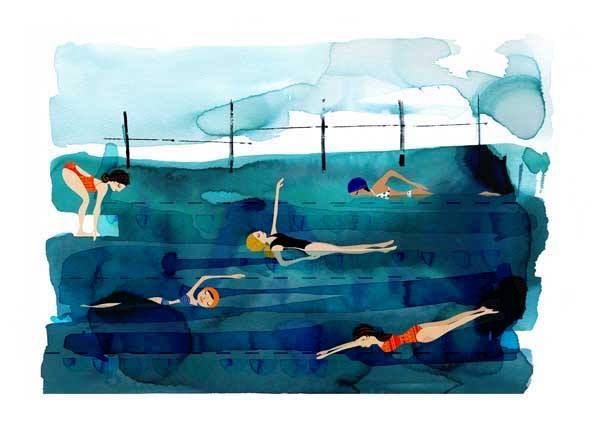 'Line for a walk' - By Gill CameronGill is fascinated by the fluid nature of watercolour and uses its unpredictable nature to encapsulate her sketches of the sea, pools and the beach, giving them depth and bringing them to life. Pushing boundaries in this medium, she tests herself and the ink by making it very liquid and uses it's spontaneity to produce a stunning range of unique works..Opening + Live Music with BILLSBRYWed 20 Dec 2017..... Show running till 20 February ......