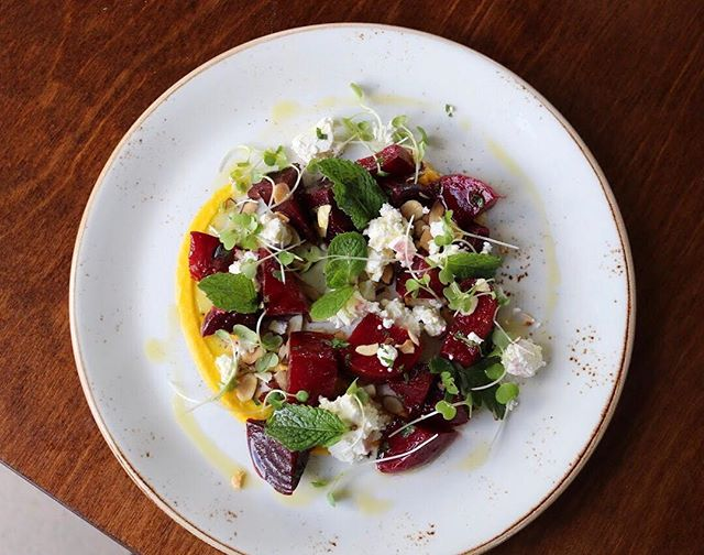 Have a fresh start to your week with our delicious roast beetroot salad, served with feta, mint and almonds.  #beetrootsalad #RichmondRdCafe #hipgrouplife