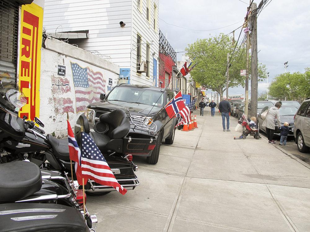 Outside of the Danish Athletic Club, 65th Street, Brooklyn.
