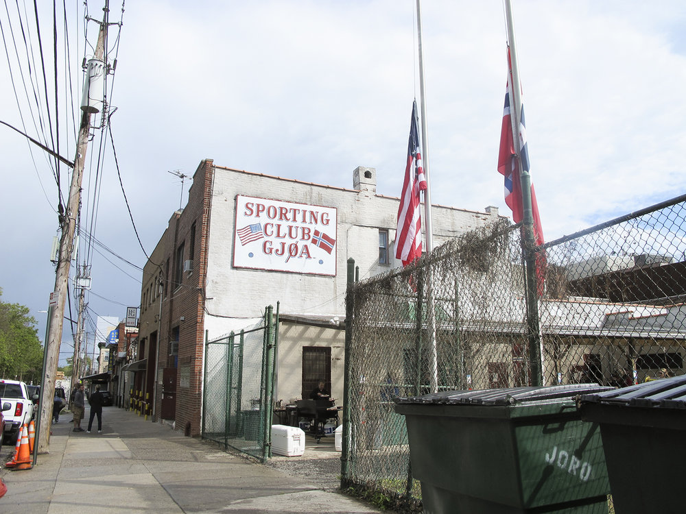 Sporting Club Gjøa on 62nd Street, Brooklyn is a soccer club for the local community, founded in 1911.