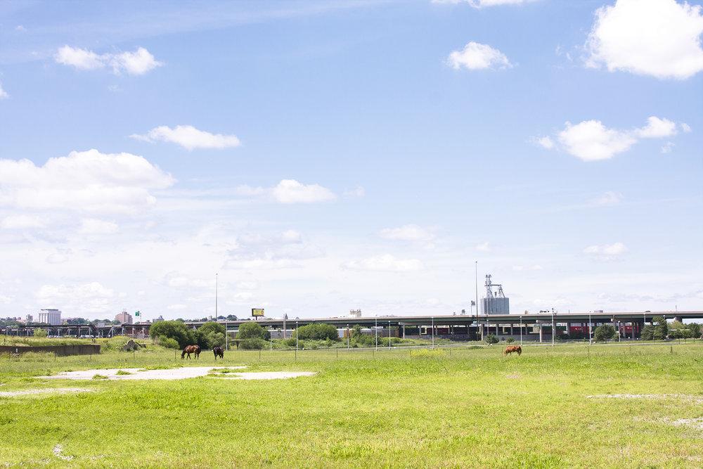 West Bottoms, Kansas-Missouri border. Kansas City, Missouri. June, 2015