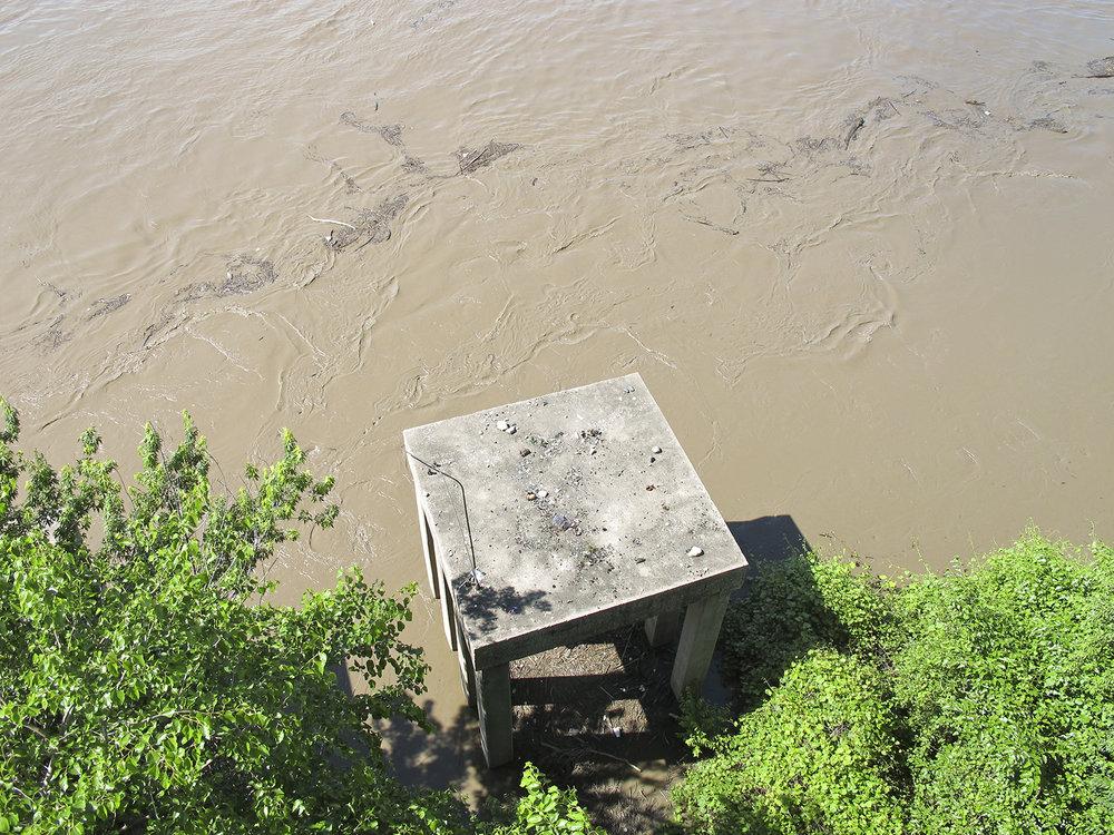 The Missouri River. Kansas City, Missouri. June, 2015
