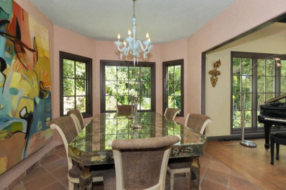Formal dining with fantastic windows.