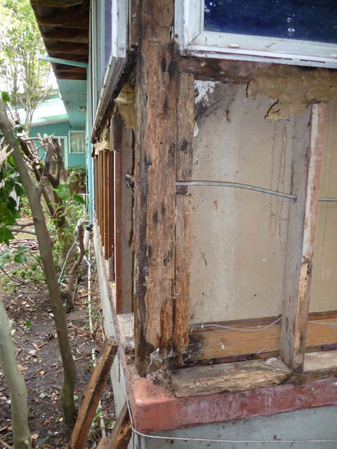 A picture is worth a 1000 words. This picture shows rot in the wood framing of this house. The damaged pieces were cut out and replaced with new wood.     A picture is worth a 1000 words. This picture shows rot in the wood framing of this house. The damaged pieces were cut out and replaced with new wood.