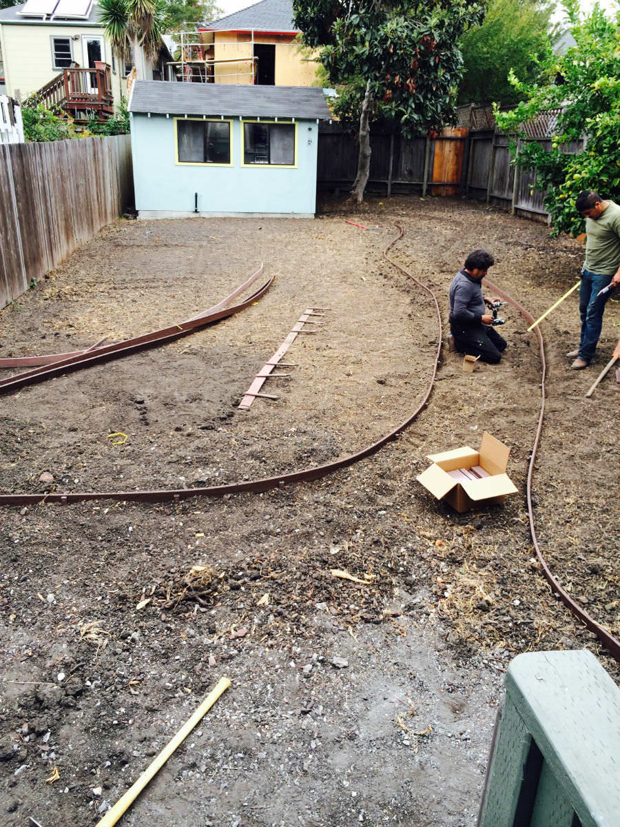 This is the backyard at 406 61st Street in Rockridge before we placed it on the market.  My clients had always wanted to renovate the space, but after an extensive interior renovation, they  put the outdoor space on hold.