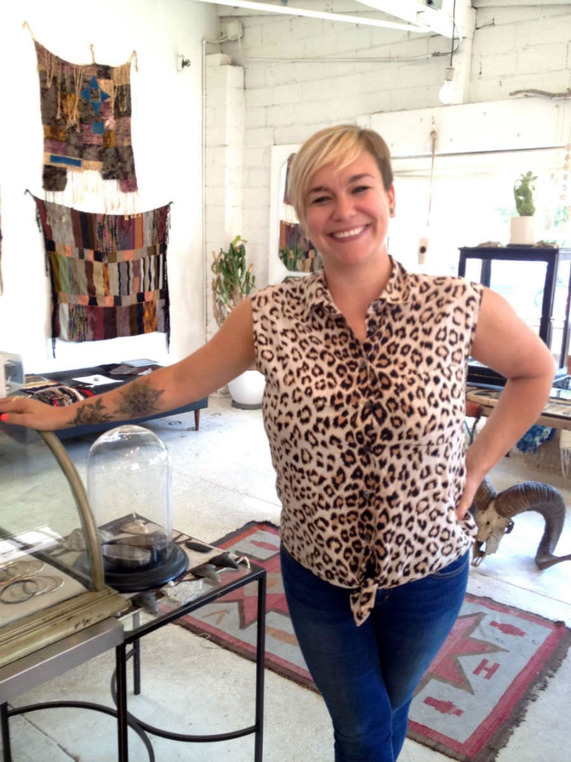 Lauren Wolf inside her super cute boutique in Temescal Alley