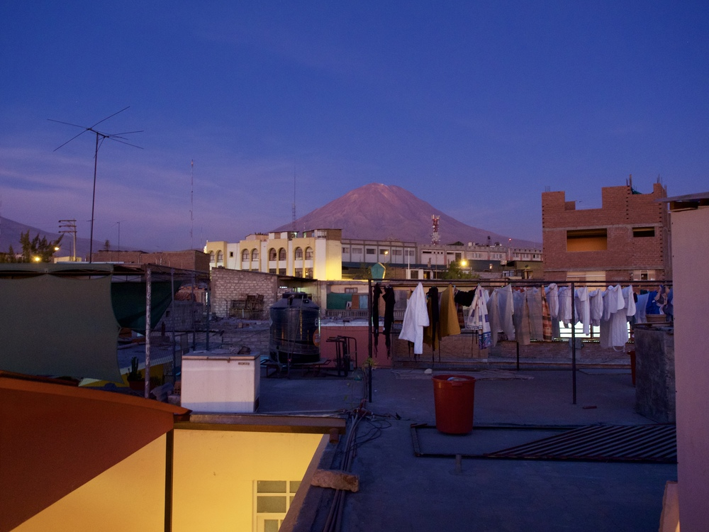 El Misti, one of the many volcanoes looming over Arequipa.