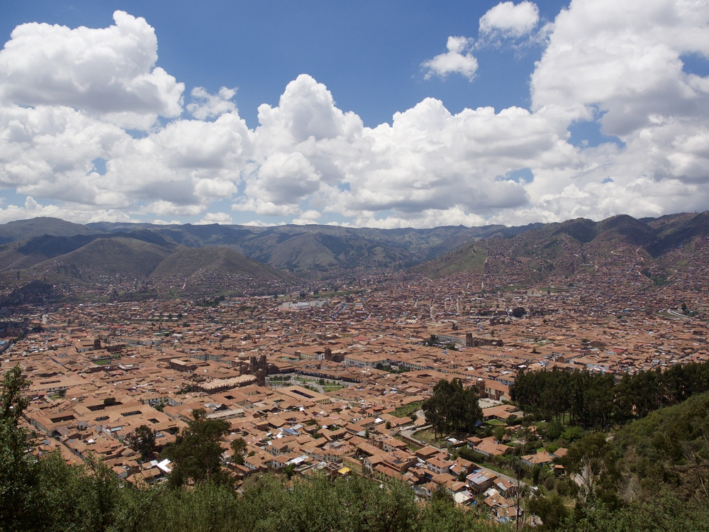 Up at the ruins overlooking the beautiful city of Cusco.